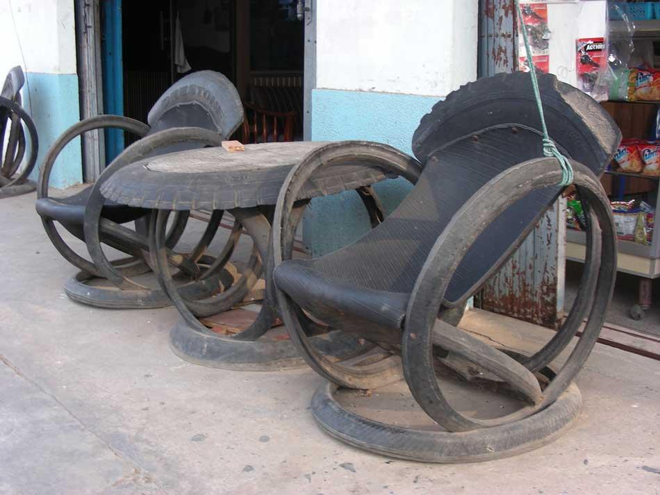salon de jardin en pneu