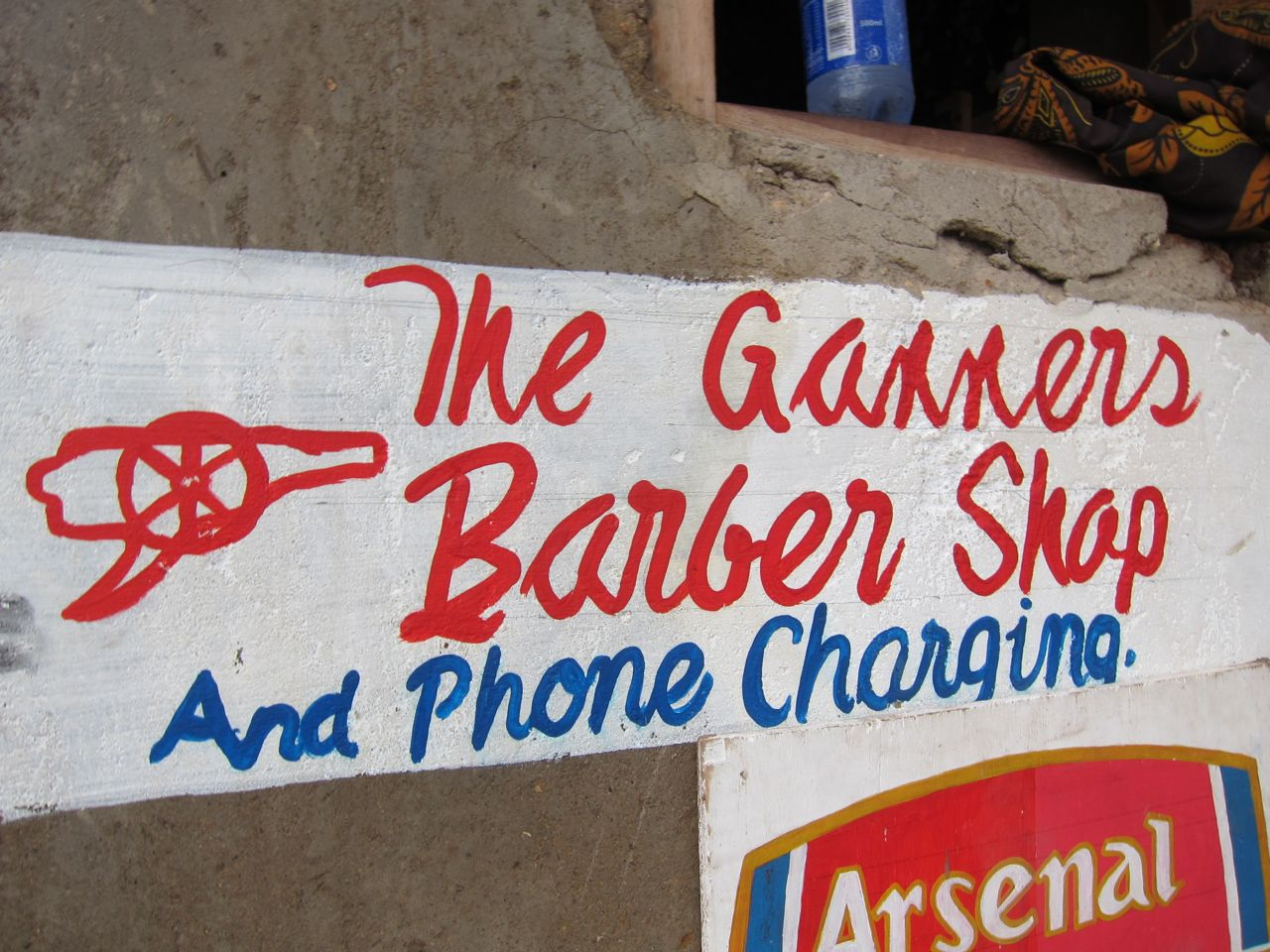 The gunners, barber shop and phone charging