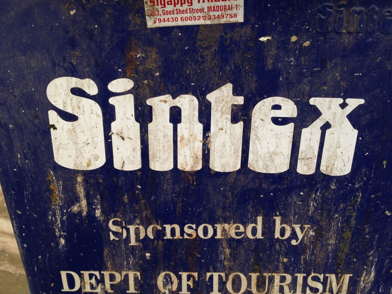 Sintex sponsored by dpt of tourism