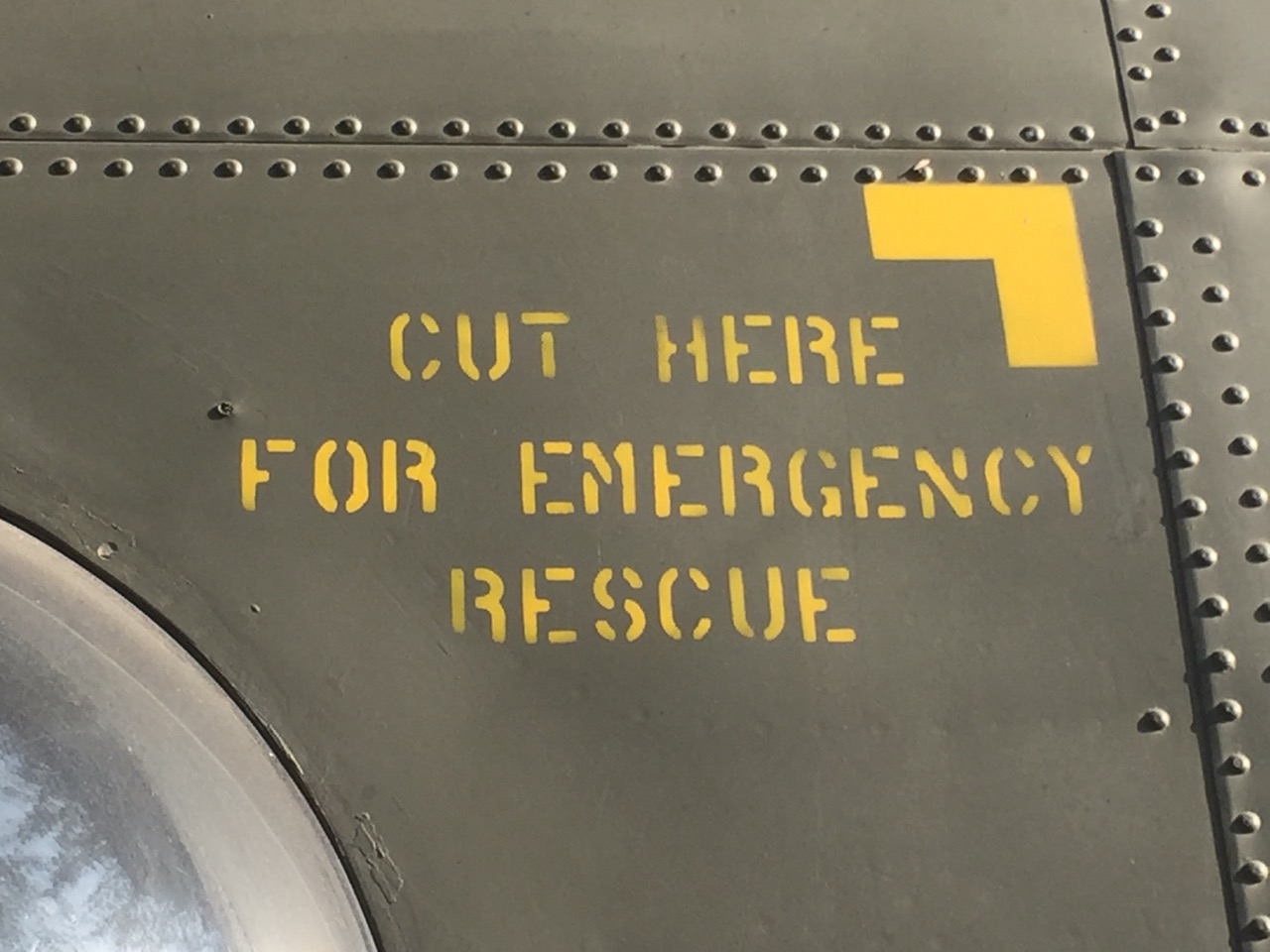 Cut here for emergency rescue
