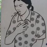 Femme grippée