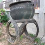 poubelle en pneu