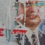 affiches lacérées
