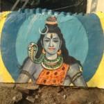 Shiva peint