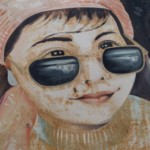 portrait à lunettes