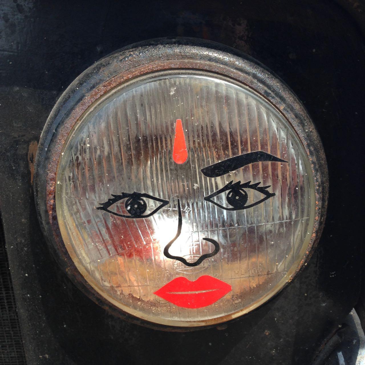 Visage phare. Rameshwaram